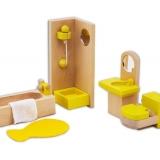 Set mobilier din lemn pentru papusi - Baie