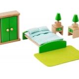 Set mobilier din lemn pentru papusi - Dormitor
