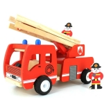 Jucarie din lemn - Masina de pompieri cu scara