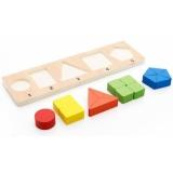 Puzzle din lemn partile intregului cu 5 reprezentari.