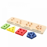 Puzzle din lemn - sortatoare forme geometrice