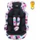 Scaun auto ISOFIX U-Grow Safety Inimioare, 9-36 kg, Multicolor cu Jucarie bebelusi , Zornaitoare Leu