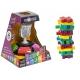 Turn instabil din lemn colorat- Momki cu Joc Momki ,Turnul instabil din lemn colorat