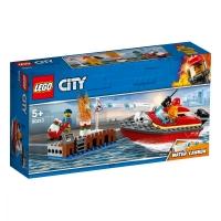Set de constructie LEGO City- Incendiul de la docuri