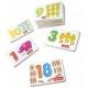 Joc din lemn cartonase cu cifre si semne matematice in format 3D.