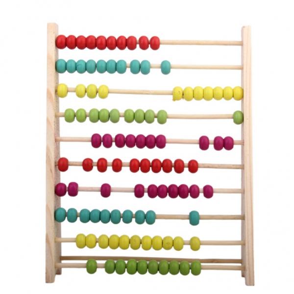 Abacus din lemn 100 de mărgele Numărarea numărului de copii preșcolari Ajutor de învățare la matematică