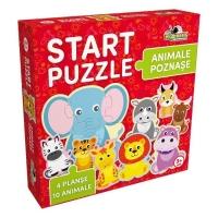Puzzle Start 4 in 1 - Animalute poznase
