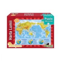 Puzzle Noriel educativ - Harta lumii, 100 piese