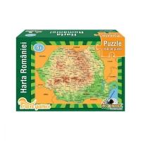 Puzzle Noriel educativ - Harta Romaniei, 100 piese