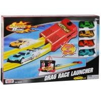 Set Pista lansator si 4 masinute Motormax Drag Race Launcher