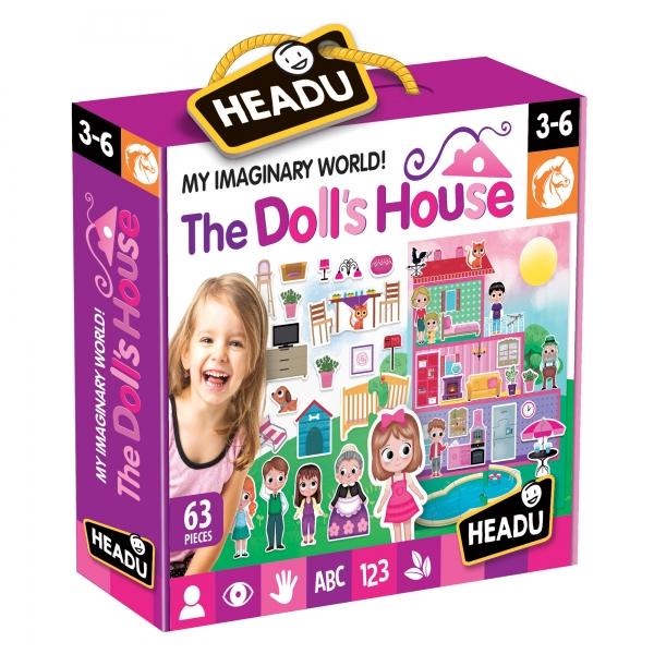 Joc Puzzle Casa Papusii 62 piese Headu