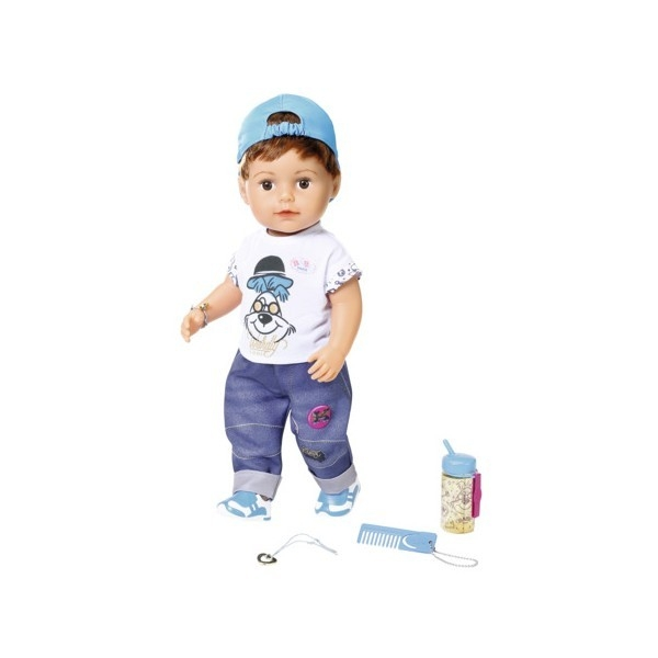 BABY born - Fratior interactiv cu corp moale, 43 cm