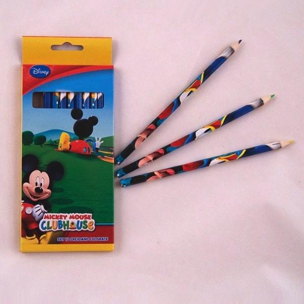 Set 12 creioane color Mikey MKY00106