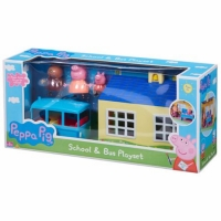 Set figurine Peppa Pig - School and bus