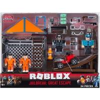 Figurine Roblox 4 personaje si 24 piese, Jailbreak Great Escape