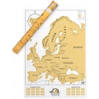 Harta Razuibila Scratch Map Europe