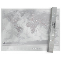 Harta lumii razuibila Scratch map, Platinum edition