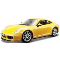 Minimodel Auto Bburago Porsche 911 Carrera S Galben 1:24