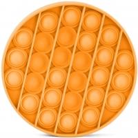 Jucarie senzoriala , Pop It Now, Disc portocaliu 12,5 cm