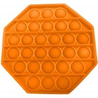 Jucarie senzoriala , Pop It Now, Octogon portocaliu 12.5 cm