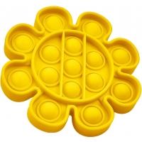 Jucarie senzoriala Push Pop It Now, Floare galbena15 cm