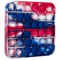Pop It Now din silicon, Patrat Multicolor 12.5 cm