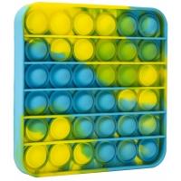 Jucarie Pop It Now din silicon, Patrat Patat 12.5 cm