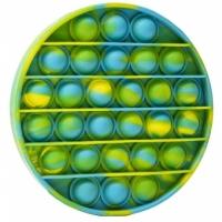 Jucarie Pop It Now, Disc Multicolor Verde/Albastru 12,5 cm