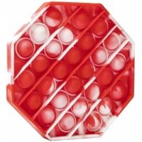 Jucarie Pop It , Octogon Model Red 12.5 cm