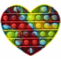 Jucarie antistres Pop It Now, inima Multicolor Verzui 14.8 cm