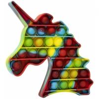 Jucarie Pop It Now, Unicorn Multicolor Verzui 15 cm
