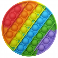 Jucarie Pop It Now, Disc Multicolor Rainbow  12,5 cm