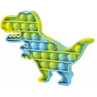Pop It Now, Dinozaur multicolor Verde/Albastru 20 cm