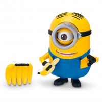 Figurina cu articulatii Minions Stuart mananca banana