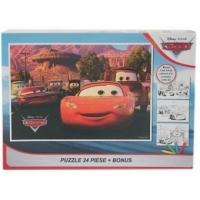 Puzzle 24 piese + Bonus Cars II