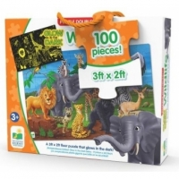 Puzzle Straluceste in Intuneric - Animale Salbatice, The Learning Journey