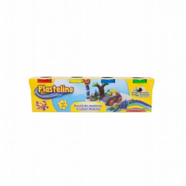 Plastelino - Pasta de modelat Starter (4 culori)