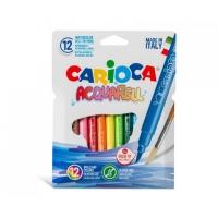 Set carioci lavabile tip pensula cu 12 culori - Carioca