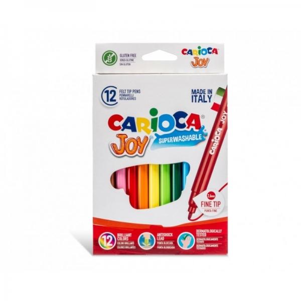 Set 12 markere lavabile - Carioca