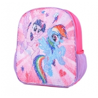 Ghiozdan gradinita 12'' My Little Pony - paiete reversibile