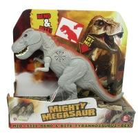Dinozaur cu lumini si sunete T-Rex Gri, 30 cm