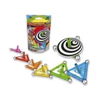 Set de constructie magnetic Spin, 10 piese