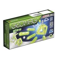 Set de constructie magnetic Geomag Kids Glow, 22 piese