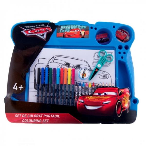 Set de colorat portabil Cars