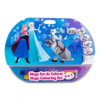 Mega set de colorat 5 in 1 Frozen