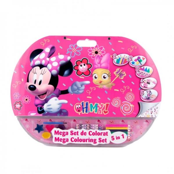 Mega set de colorat 5 in 1 Minnie Mouse