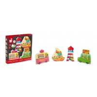 Set 4 in 1 Puzzle din lemn Janod - Vacanta