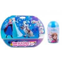 Pachet Mega set de colorat 5 in 1 Frozen + Set de colorat suflarici spray 24 culori Frozen