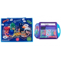 Pachet Set pictura 68 piese Pj Masks - Eroi in pijama + Set de colorat portabil PJ Masks - Eroi in pijama