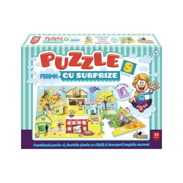 Puzzle Noriel - Ferma cu Surprize, 36 piese